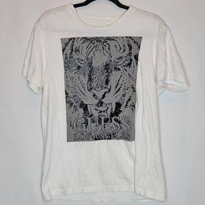 GUESS Los Angeles Tiger T-Shirt Mens Size Large